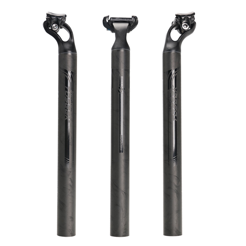 2016 NEW TOSEEK Ultralight aviation aluminum alloy Carbon Fiber Bicycle Seatpost Bike Seat Post 27.2/31.6mm Length 380mm