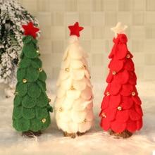 HOYVJOY Mini Wood Christmas Tree 18-28cm Xmas Home Decorations Wedding Table Accessories New Year
