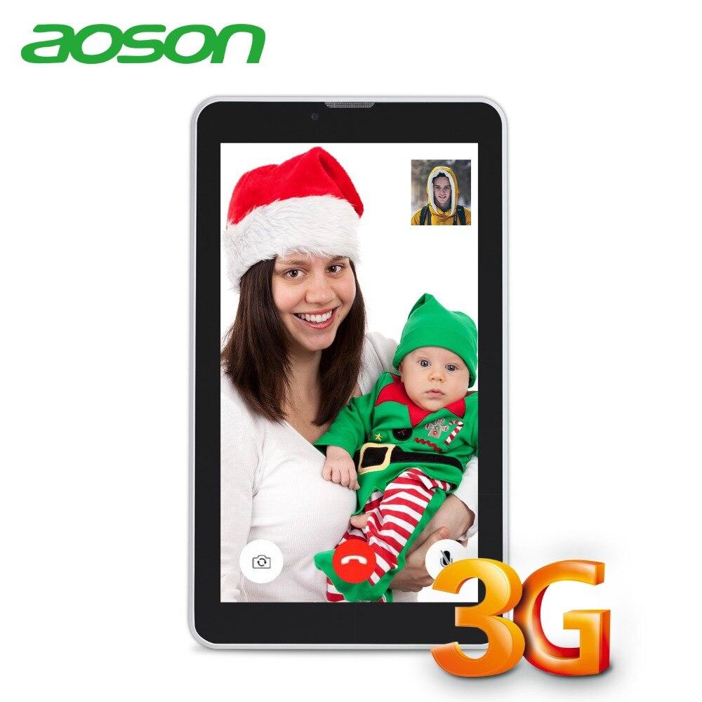 Aoson 3G tableta de 7 pulgadas de Doble tarjeta SIM llamada de teléfono tabletas Android 7,0 Tablet PC IPS pantalla GPS WIFI 16 GB ROM Quad Core