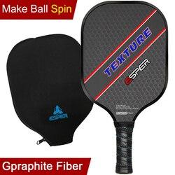 ESPER Pickleball Paddel Leichte Graphit Schläger Strukturierte Oberfläche Schläger Für Spin Honeycomb Core Ergonomischen Griff Rand Schutz