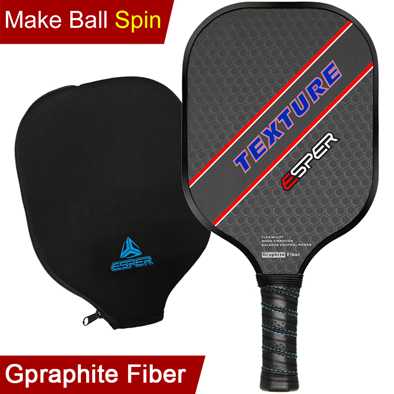 ESPER Pickleball Paddle Lightweight Graphite Racquet Textured Surface Racket For Spin Honeycomb Core Ergonomic Grip Edge Guard