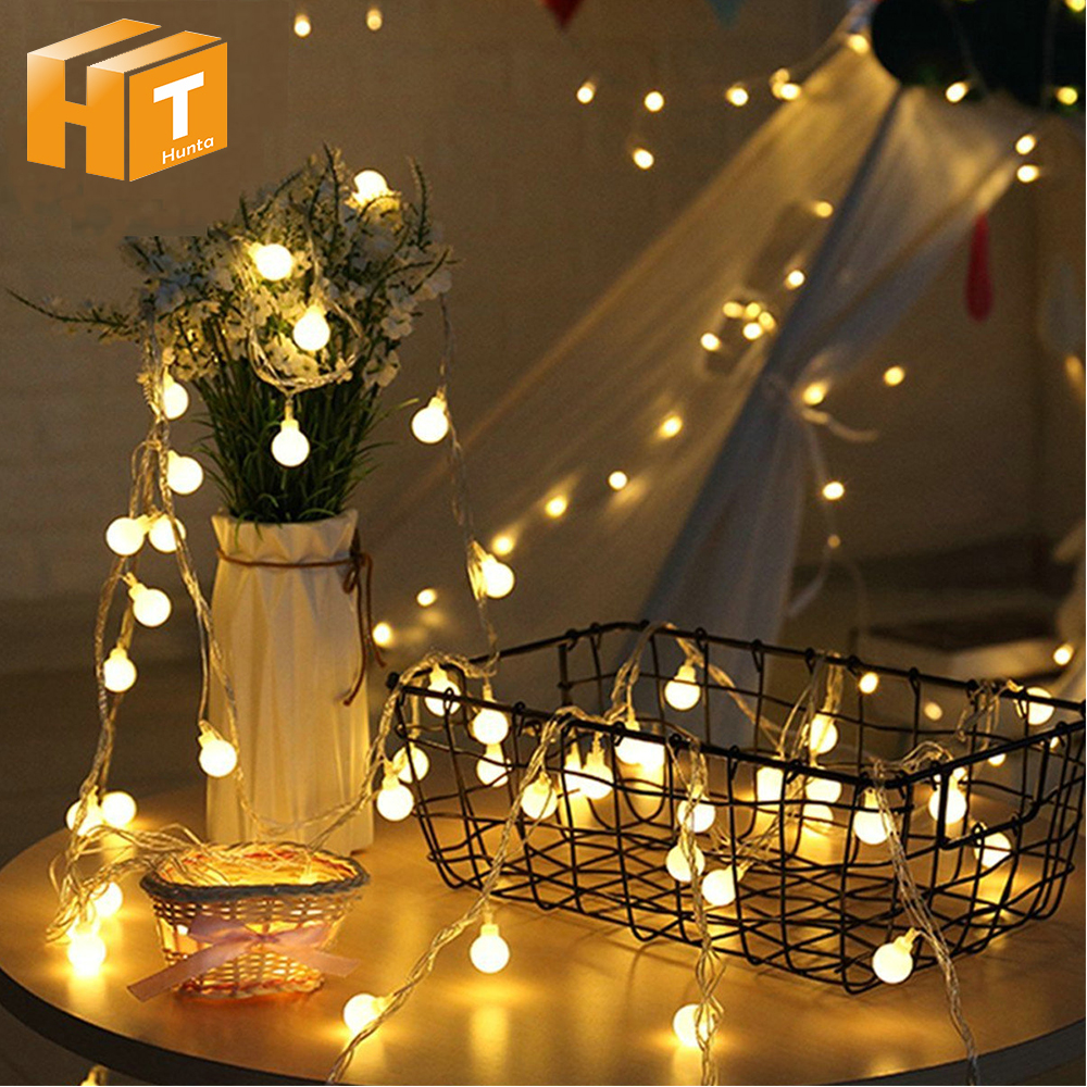 Small Ball LED String Lights Warm White 1M 10LED 2M 20LED 5M 50LED 10M 100LED Christmas Fairy Light Holiday Lighting 5m 20led 10m 35led big ball string light indoor outdoor decorative fairy lighting for christmas trees patio party