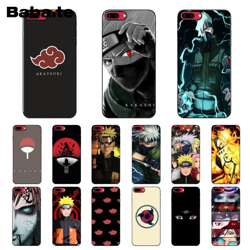Babaite Hokage Naruto Kakashi Newly Arrived Black Cell Phone Case for iPhone X XS MAX 6 6S 7 7plus 8 8Plus 5 5S XR