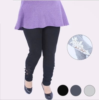 2016 New Arrival Women leggings  Plus size 5XL 110Kg High Waist Side of the three-dimensional Lace women's pants