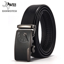 [DWTS] Mens leather belt buckle personality automatic belts leisure fashion pure bovine leather pants waistband free shipping