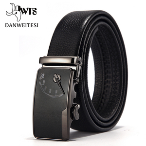 Image 1 - [DWTS] Mens leather belt buckle personality automatic belts leisure fashion pure bovine leather pants waistband free shipping