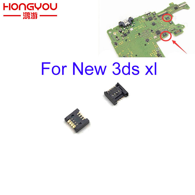 2Pcs For New 3DS Touch Screen Ribbon Port Socket For New 3DS XL Repair 4 Pin Connector