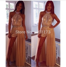 free shipping 2014 provence style new design beading short formal gown custom size/color special occasion dress sexy Prom Dress