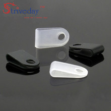 1000pcs White Black 3.3 U type line clamp Cable retention clips Type Line deduction Clips