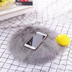 30*30 cm macio pequeno artificial pele de carneiro tapete capa de cadeira quarto esteira de lã artificial quente peludo tapete assento textil pele área tapetes