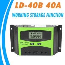Шим контроллер заряда 40а 12 В 12 В авто-переключатель жк-солнечная регулятор с рабочей функцией хранения для солнечной уличный фонарь новый