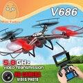 WLtoys V686 V686G Versão FPV 4CH RTF Drones Quadcopter Com Câmera HD Profissional 2.4 GHz Transmissão Em Tempo Real Modo CF JJRC