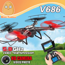 WLtoys V686G FPV Version 4CH Professional Drones Quadcopter With HD Camera RTF 2.4GHz Real Time Transmission CF Mode JJRC