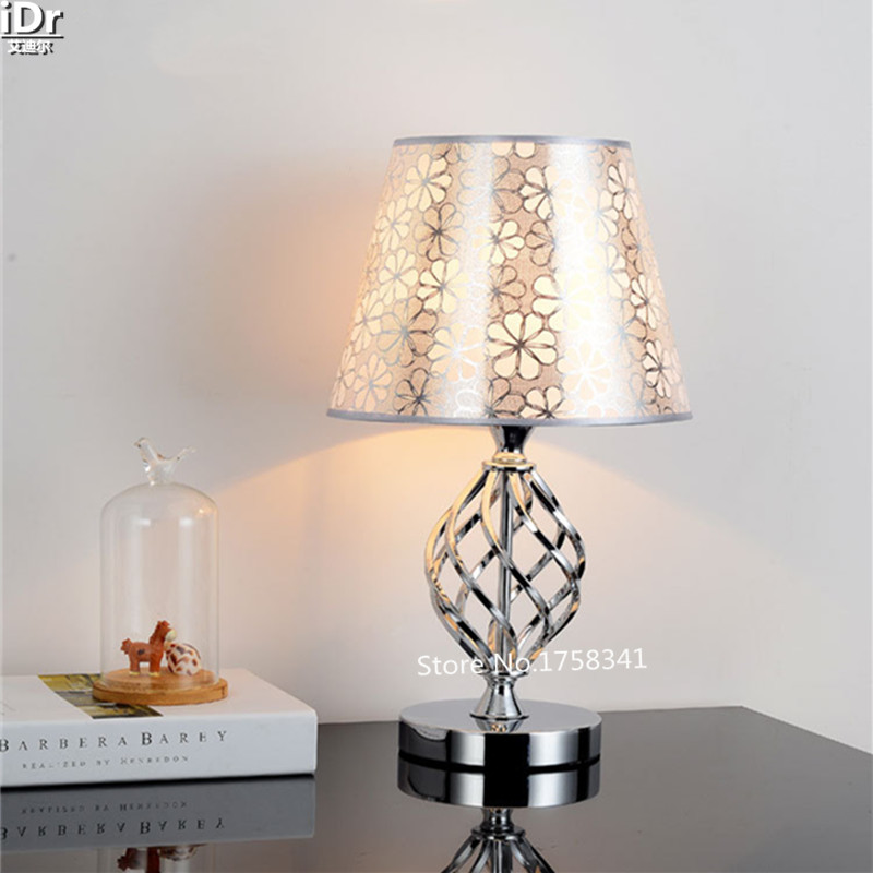 New Modern Minimalist Bedroom Bedside Lamp Dimmable Decorative Cloth Creative Fashion Den Small