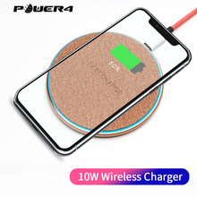 Power4 10W Ultrathin Wireless Charger Pad For Samsung S9 S10 Huawei P20 Fast iPhone x xs Xiaomi Redmi