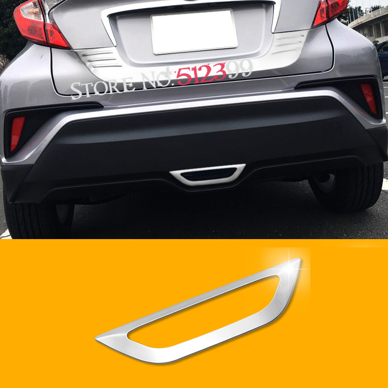 1pcs Stainless Steel Car Rear Brake Marker Light Cover Trim For Toyota C-hr Chr 2016 2017 2018 (not Fit The Model With Light) Selling Well All Over The World