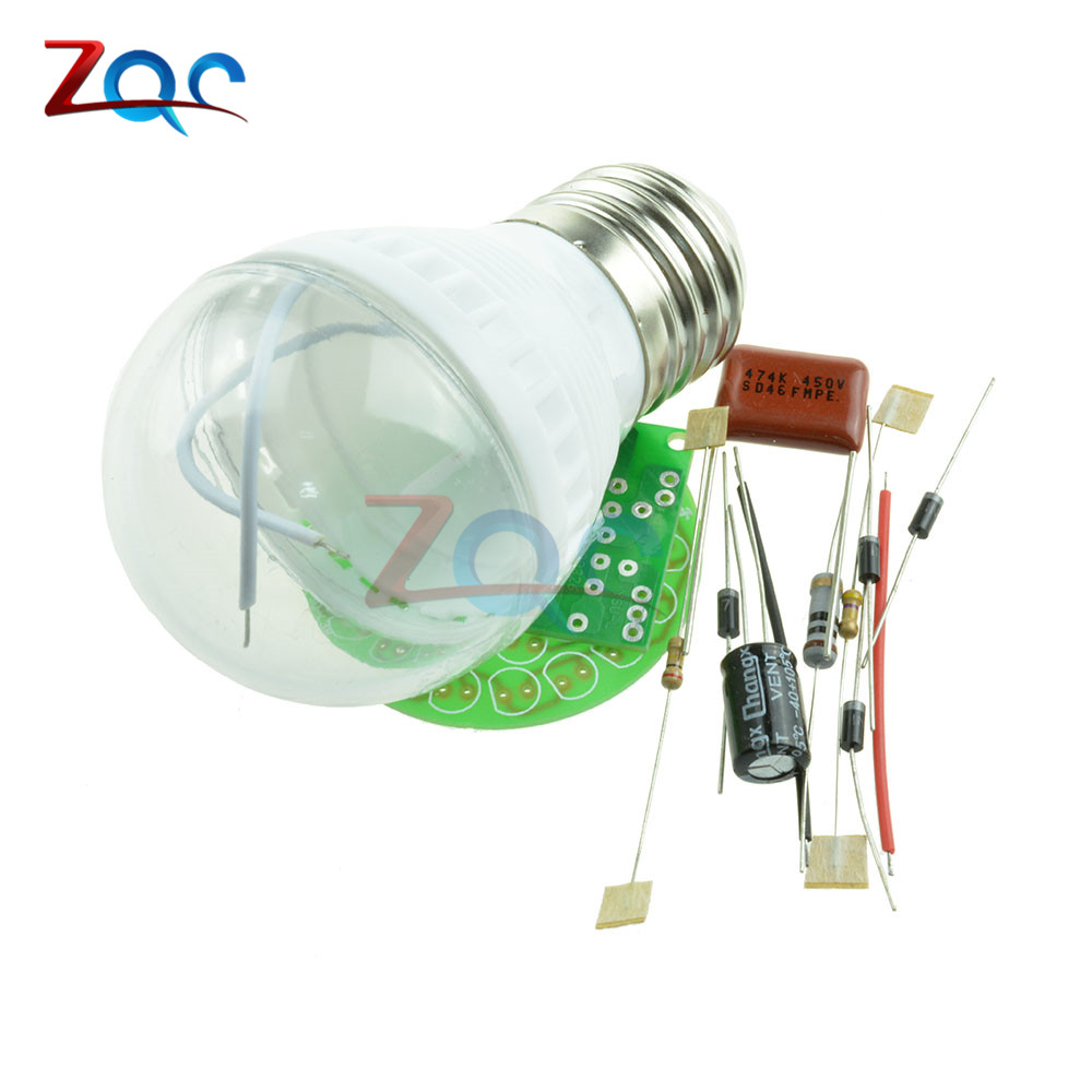 1Set Energy-Saving 38 LEDs Lamps DIY Kits Electronic Suite High Quality 5
