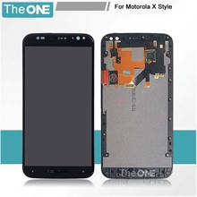 For motorola Moto X Style X3 XT1575 XT1572 XT1570 LCD Display Screen With Touch Digitizer + Frame Assembly Free Shipping