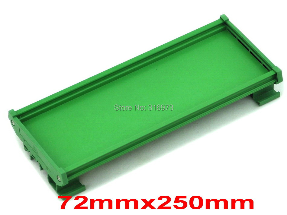 ( 50 Pcs/lot ) DIN Rail Mounting Carrier, For 72mm X 250mm PCB, Housing, Bracket.