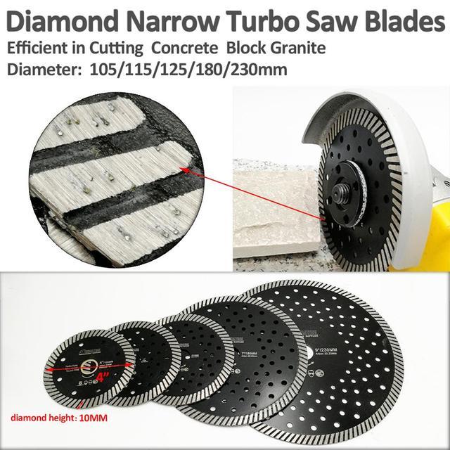 SHDIATOOL Diamond Hot Pressed Diamond Turbo Saw Blade Hard Material Ceramic Tile Granite Cutting Disc with Multi Hole baldes