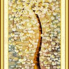 Отпечатано Незаконченный схемы для вышивки крестом устанавливает вышивка ручной работы Рукоделие Наборы-дерево, полный вышивка