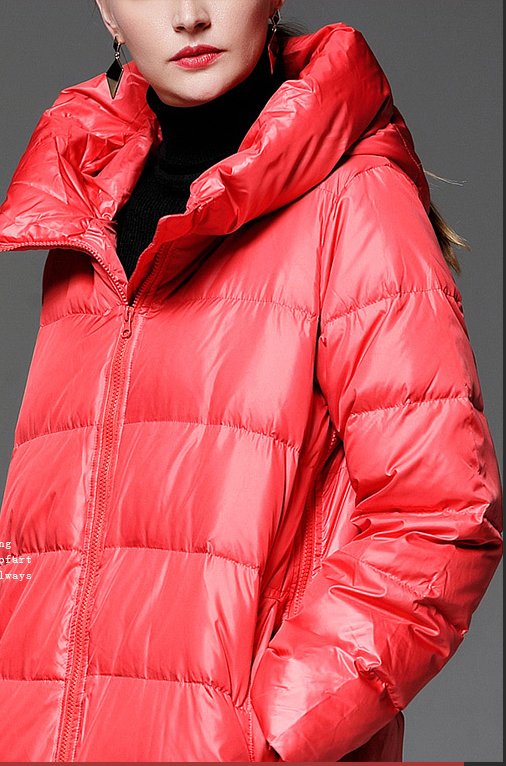 Noir Marine De D'hiver Chapeau Hiver 2018 Rouge Parkas Blanc Zipper Manteau Gris Lâche Femmes Style Bleu q8YwwT4xO