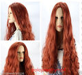 FREE SHIPPING Hot heat resistant Party hair>>>New Cosplay Fashion Long Curly Copper Red Wigs