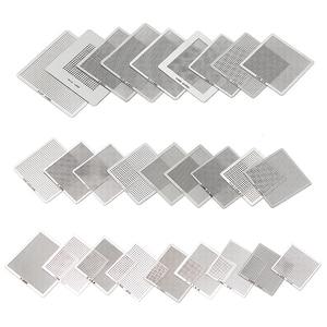Image 3 - Directly Heat BGA Reball Reballing Net Universal Stencils Template Set Kit Silver Steel Welding Fluxes with stand