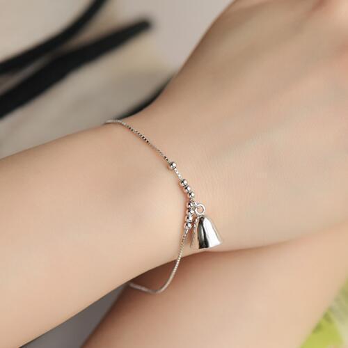 Plain Silver Chain Link Bracelet