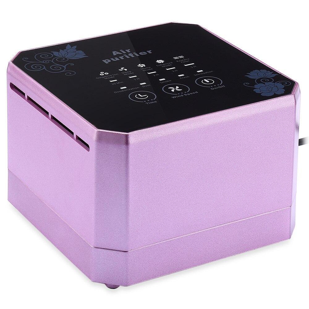 Purificador de aire multifuncional esterilizador generador de iones negativos desmontaje de escritorio purificador de aire formaldehído para el hogar