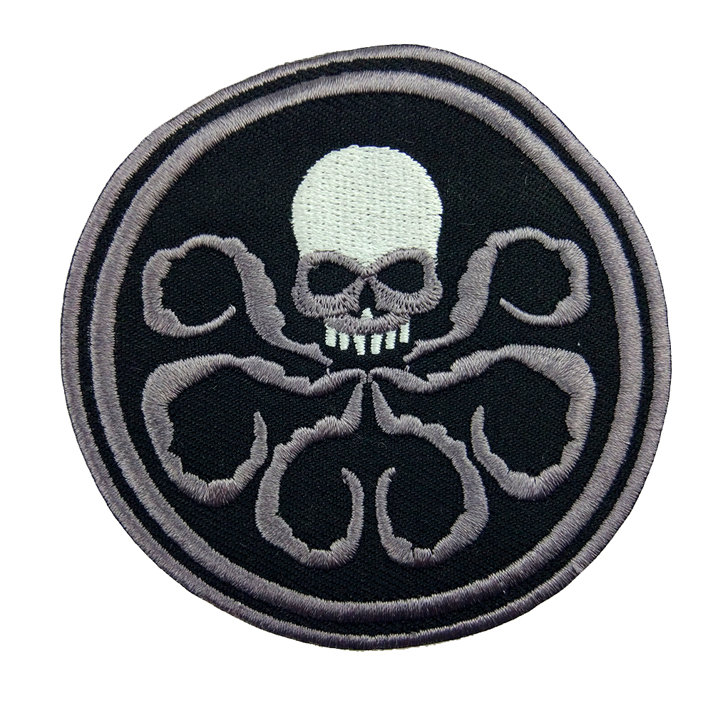 Custom DIY <font><b>Patches</b></font> <font><b>For</b></font> <font><b>Clothing</b></font> <font><b>Marvel</b></font> Comics CAPTAIN AMERICA HYDRA Iron-on Shield Agent Embroidered Badges <font><b>Patch</b></font> Clothes image