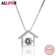 925 Sterling Silver Fashion Geometric Triangle Necklace Whit Movable Zircon Crystal Women Necklace Necklace Jewelry huge heavy 925 sterling silver movable limbs skull robot punk pendant 9l019 necklace 24inch