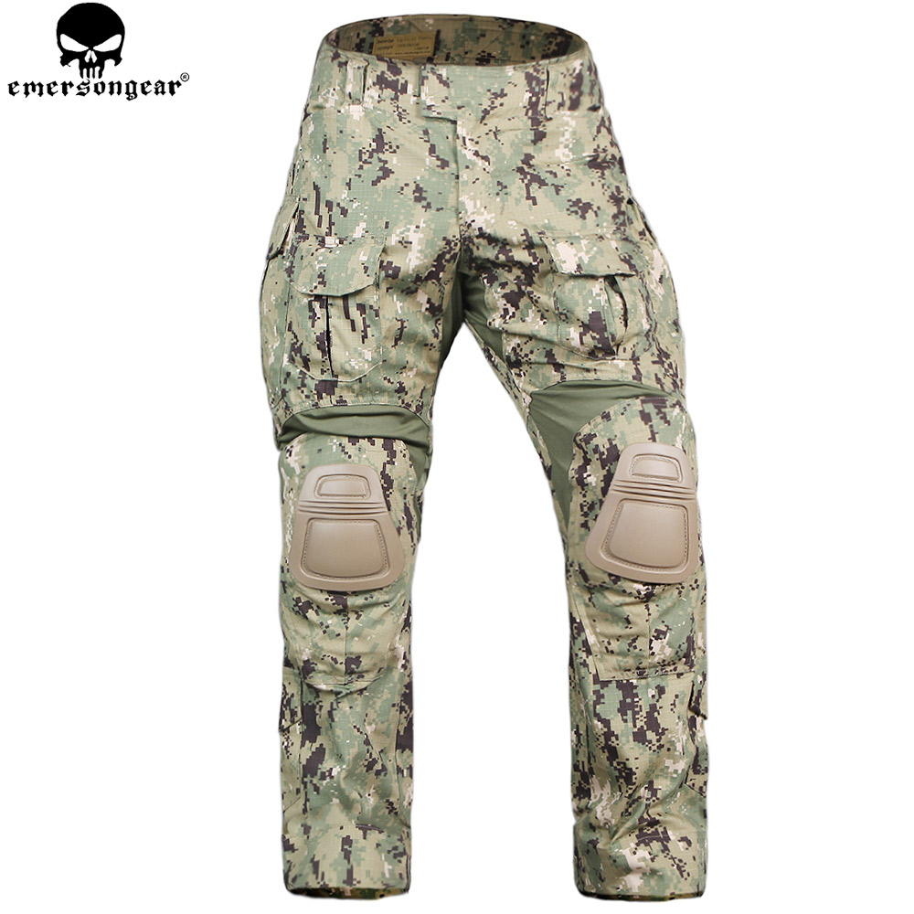 EMERSONGEAR Airsoft Pants With Knee Pads Tactical Trousers Military Army Hunting Camouflage Pants Multicam Aor2 camouflage tactical military clothing paintball army cargo pants combat trousers multicam militar tactical shirt with knee pads