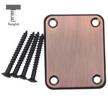 Tooyful Neck Plate&4 Screws For Strat/Tele Style Electric Guitar/Bass Purple Bronze(China)