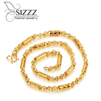 SIZZZ 2017 Fashion Hot Selling Domineering Gold Necklace Men S Fashion Models Strand Necklaces