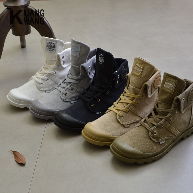 2017 New Top Quality Canvas Men Boots Lace Up Male Canvas Shoe Ankle Botas Cowboy Motorcycle Boots Fashion Military Desert