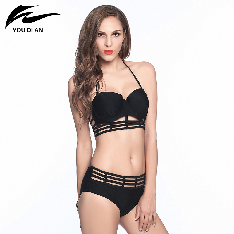 Sexy Swimwear Women Bikinis Bandage 2017 Brazilian Push Up Bikini Set Hollow Out String Biquinis Female Swimsuit Bathing Suits maheu 2017 sexy high neck halter thong bikini set push up women bandage hollow swimsuit swimwear female cut out bathing suit