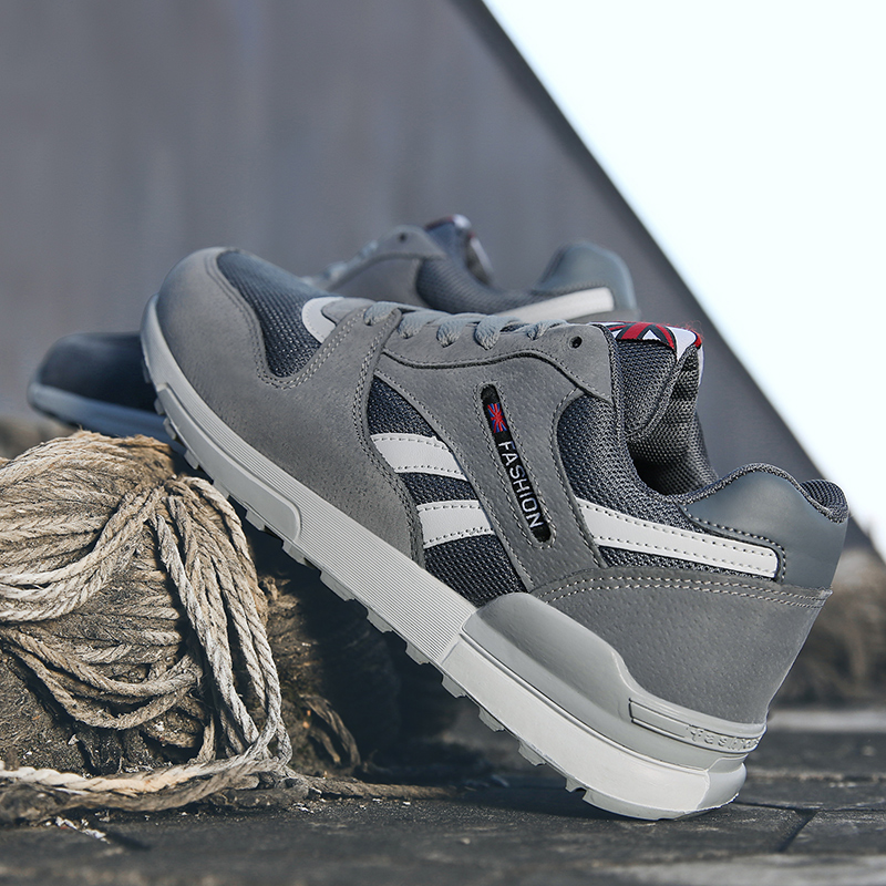 Hot Original Summer Breathable Sneakers Male Sports Gray Bla