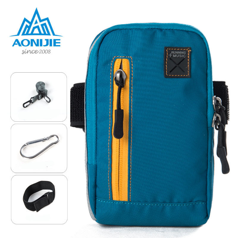 Aonijie Running Bags 4 In1 Armband Arm Bag Pouch Pack For Jogging Gym Fitness Workout Wallet Cell Phone Key E845 Relojes Y Joyas