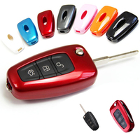Car Key Wallet Protective Case Cover For Ford Focus 3 Kuga 2012 2013 Auto Car Accessories