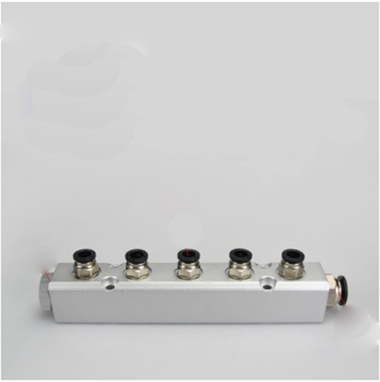 30x30mm G1/4 Out G1/2 In 5 Way Pneumatic Fitting Air Manifold Block Splitter расходомер barry 4 g1 2 2 8l min