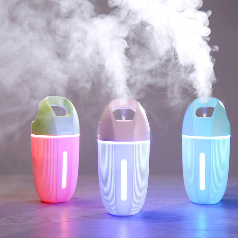 200ML D6 Cup Humidifier Colorful Night Light Function Mist Maker Ultra Quiet Design Air Freshener With Anti Dry Protection