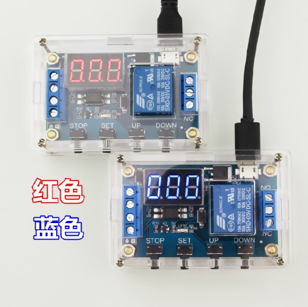 1 road relay module shell delay power disconnect trigger delay Cycle time switch XY - J03