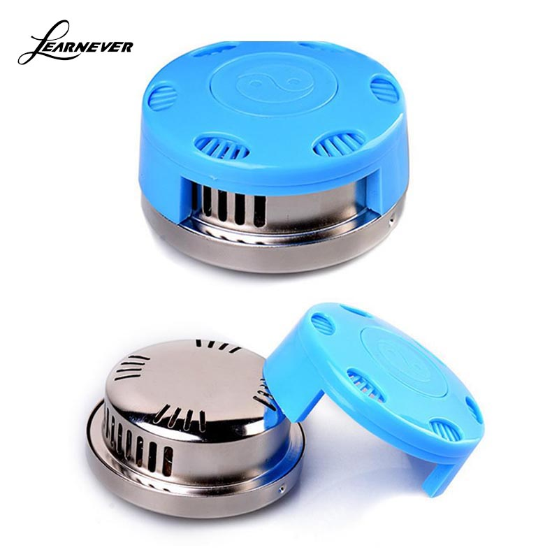 Blue Color Red Package Portable Pure Cupper Acupuncture Moxa Box Stick Burner Moxibustion Tank HT0155 цена и фото