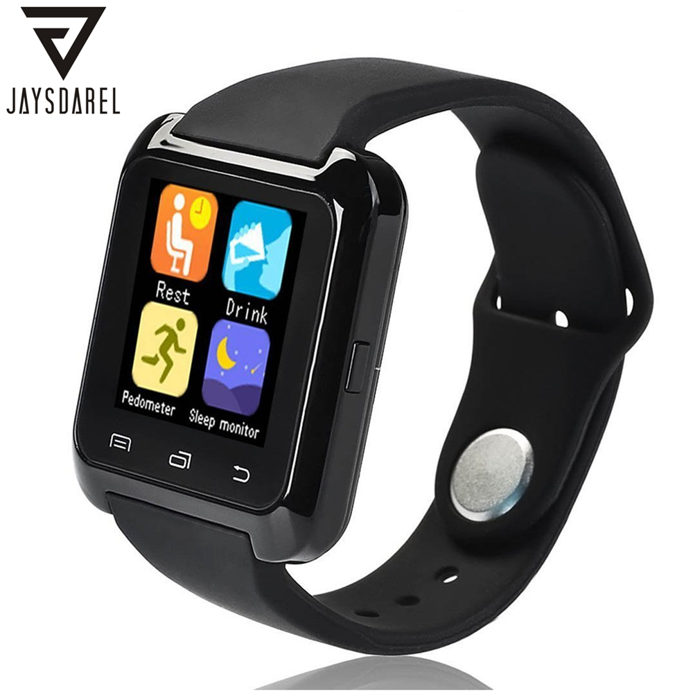 JAYSDAREL U80 Bluetooth Smart Watch Sport Fitness Bracelet Wearable Device 1.44 inch Smartwach for Android iOS PK U8 GT08 DZ09
