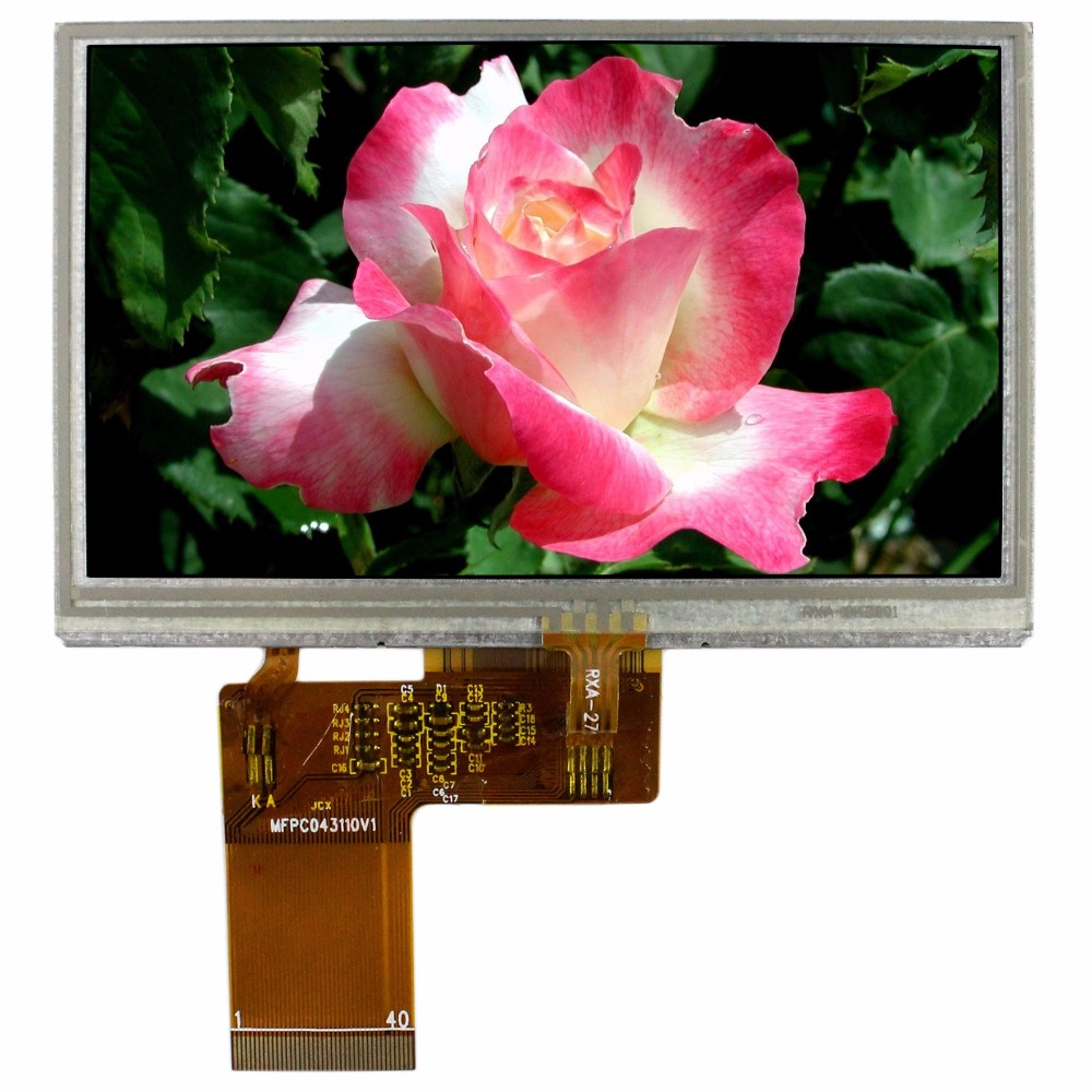 4.3 LCD Screen With Touch Panel 480x272 40Pin LCD Display 5inch lcd screen with capacitive touch panel 800x480 40pin lcd display