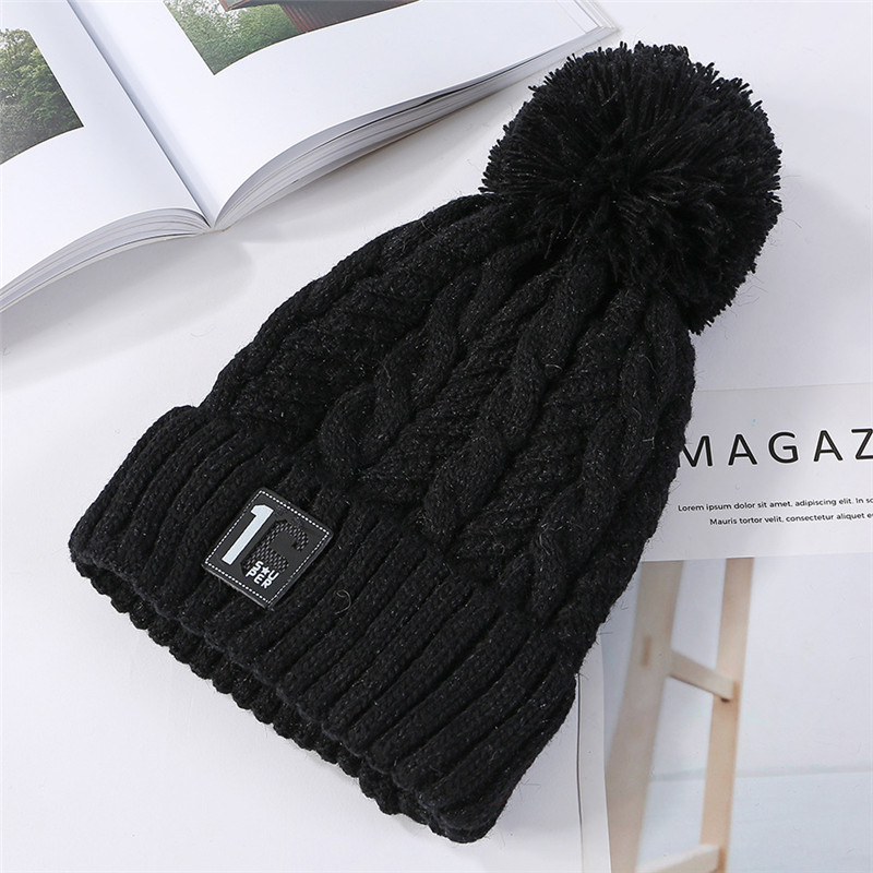 6029b6527 USPOP New Fashion Women Thick Winter Hats Number Label Velvet ...