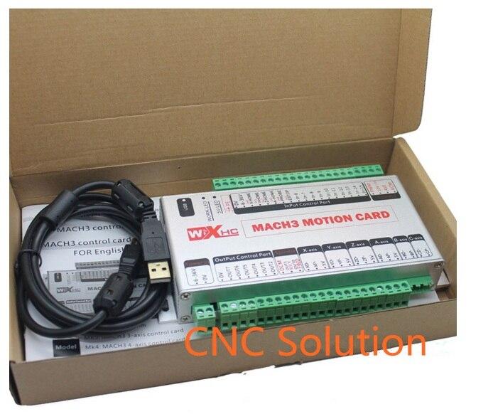 6 axes USB Mach3 contrôleur de CNC carte de contrôle de mouvement 2 MHz carte de dérivation A B C X Y Z axe USB CNC carte de contrôleur 6 axes nouveau