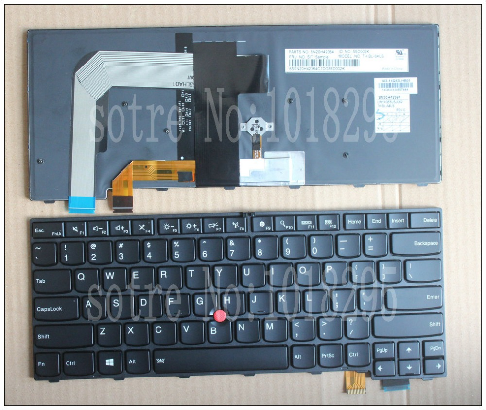 NEW Laptop Keyboard For  for Lenovo Thinkpad FRU:00PA452 00UR395 00PA534 00UR355 P/N: sn20j91959 SN20H42446 SN20J91881 new original laptop keyboard for lenovo thinkpad t460p t460s us keyboard english with backlit backlight 00ur395 00ur355