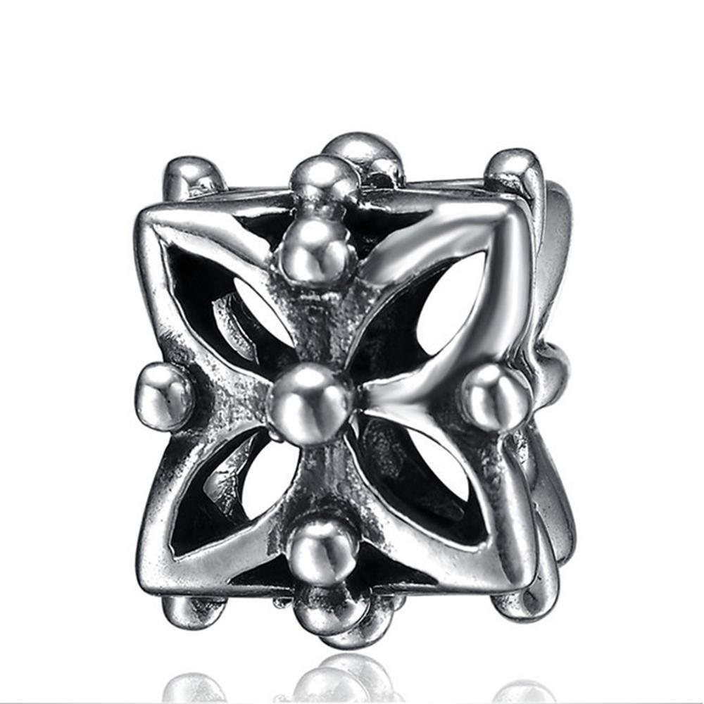 5 perles métal cadre en métal 14mm Antique Argent Lien Bijoux pièces pour bricolage